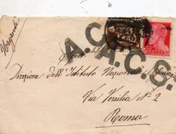 1944   LETTERA PER ROMA + ACS - Unclassified