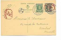 SH 0759. CP 73 + Affr. Mécanique PRIVE 5c + 10c/ P O10 BRUXELLES 1 - 9.VII.31 Vers Etterbeek. Cach. Facteur 338/A. TB - Postcards [1909-34]