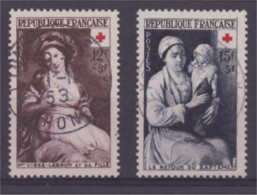 Croix Rouge 1953 N° 966 Et 967 Cachet Rond Centré - Gebraucht