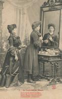 La Coquette Au Miroir  . Cheveux Coiffure . Make Up. Girl Looking Her Hair At The Mirror. Envoi De Lourches Nord 1907 - Women