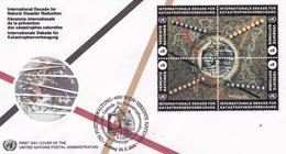 UNO WIEN 170-173, FDC, Internationale Dekade Für Katastrophenvorbeugung (IDNDR) 1994 - FDC
