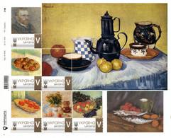 Ukraine 2020, Painting, Vincent Van Gogh, Sheetlet Of 6v - Ucrania