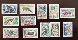 COTE D'IVOIRE Chasse, Phacochère, Hippopotame, Chien, Singe,  1963/64. Neuf Sans Charniere, MNH - Andere