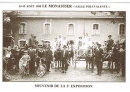 CP 48 LE MONASTIER SOUVENIR 3ème Exposition 1988 - Other Municipalities