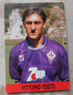Vittorio Tosto # Fiorentina # Calcio - Cartoncino / Sponsor 7UP - Voetbal