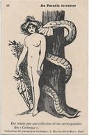 """"""" Au Paradis  Terrestre """" -- Caricature Satirique ,anti Cléricale - Collection  Journal """" Les Corbeaux """" - Satirische"""