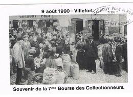 CP 48 VILLEFORT - 7ème Bourse Des Collectionneurs -Le Marché Aux Chataignes Place De L'église - Villefort