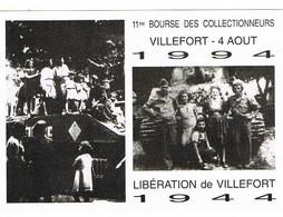 CP 48 VILLEFORT - 11 ème Bourse Des Collectionneurs -1994 Libération De Villefort 1944 - Villefort