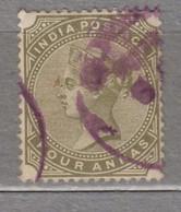 India Victoria 1885 4 A Used (o) Mi 37 26924 - 1882-1901 Imperio