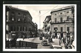 Cartolina Palermo, Via Ruggero Settimo - Palermo