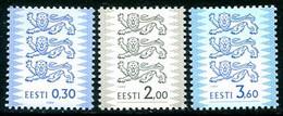 ESTONIA 1999 Arms Definitive 0.30, 2.00, 3.60 Kr. MNH / **  Michel 356-58 IA - Estonia