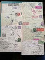 Lot De 45 Cartes Voir Taxes. Rebuts. Inconnus.... - 1859-1955 Usati