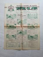 """"""" SPÉCIAL CAMPING """" Dépliant Publicitaire De 1947 . Tentes Et Matériel De Camping + 2 Fascicules Grilles Tarifaires . - Werbung"""