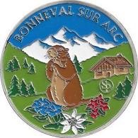 BONNEVAL-SUR-ARC – Le Village Et La Marmotte (couleur Argent) / Souvenirs Et Patrimoine - Altri