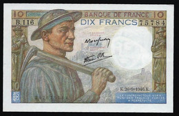 FRANCE - MINEUR - 10 FRANCS SERIE  K.26- 9-1946.K. - SUP/NEUF - 10 F 1941-1949 ''Mineur''