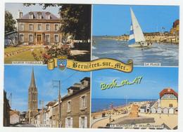{84273} 14 Calvados Bernières Sur Mer , Multivues ; L' Eglise , Maison Familiale , Monument Du Débarquement , La Plage - Otros Municipios
