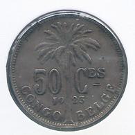 CONGO - ALBERT II * 50 Centiem 1923 Frans * Z.Fraai * Nr 10158 - 1910-1934: Albert I