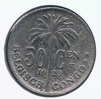 CONGO - ALBERT II * 50 Centiem 1923 Vl * Z.Fraai * Nr 10159 - 1910-1934: Albert I