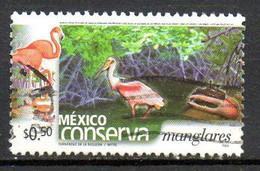 MEXIQUE. N°1978 Oblitéré De 2002. Flamant Rose/Crabe. - Schalentiere