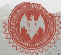 VAMPIRE. COVER REICH. 26 9 1908. PERFIN 20 Pf. Fr.STÜBGEN ERFURT. TO LIBOURNE FRANCE - Cartas