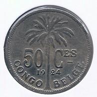 CONGO - ALBERT II * 50 Centiem 1924 Fr * Z.Fraai / Prachtig * Nr 10160 - 1910-1934: Albert I