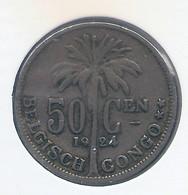 CONGO - ALBERT II * 50 Centiem 1924 Vl * Z.Fraai * Nr 10162 - 1910-1934: Albert I
