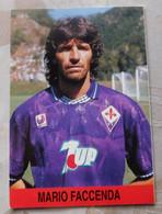 Mario Faccenda # Fiorentina # Calcio - Cartoncino / Sponsor 7UP - Voetbal