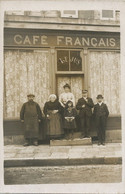 Carte Photo St Martin Auxigny Café Français Lejus Animée - Other Municipalities