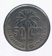 CONGO - ALBERT II * 50 Centiem 1925 Vl * Z.Fraai * Nr 10168 - 1910-1934: Albert I