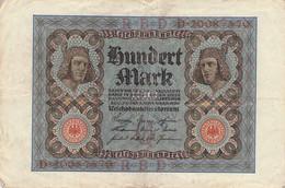 100 Mark 1920 Reichsbanknote VG/G (IV) - 100 Mark