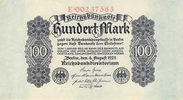 100 Mark 1922 Reichsbanknote UNC (I) - 100 Mark