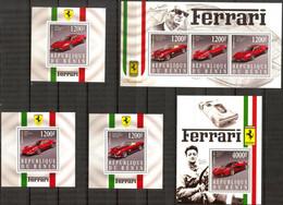 {F0301} Benin 2015 Racing Cars Ferrari 5 S/S MNH Cinderella ! - Erinofilia