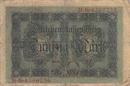 100 Mark 1914 Reichsbanknote VG/G (IV) - 100 Mark