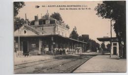 SAINT - AMAND-MONTROND  Gare Du Chemin De Fer - Stazioni Con Treni