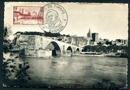 CARTE MAXIMUM 1949 - PONT SAINT BENEZET - JOURNEE DU TIMBRE AVIGNON 26 MARS 1949 - CHOISEUL - 1940-49