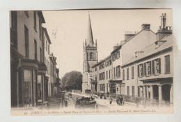CPA SAINT HELIER (Iles De La Manche-Jersey) - David Place Et L'Eglise Saint Marc - Jersey
