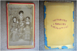 PHOTO CDV 19 EME FAMILLE  MODE  Cabinet EMMANUELI  A ST NICOLAS DU PORT - Old (before 1900)