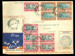 SUID AFRIKA * SOUTH AFRICA LUCHTPOSTBRIEF Uit 1938 Van CAPE TOWN Naar AMSTERDAM > IJMUIDEN   (11.861i) - Posta Aerea