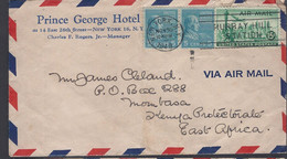 Letter New York - Prince George Hotel, For Mombasa (East Africa) - 1949 - - Covers & Documents