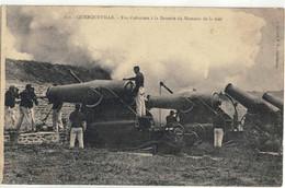 CPA  QUERQUEVILLE  Tirs D'obusiers à La Batterie Du Hameau De La Mer  N° 252 - Altri Comuni
