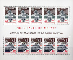 Express-Zug EUROPA 1988 Monaco Block 39 ** 26€ Satelit Flugzeuge Bloque Toys Hoja S/s Space M/s Bloc Sheet Bf CEPT - Eisenbahnen