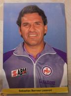 """Sebastiao Barroso Lazaroni  # Fiorentina  #  Cartoncino /cartolina # Calcio  # Sponsor """"  La Nazione """" - Voetbal"""