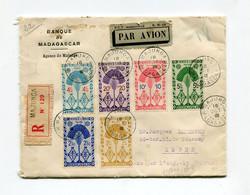 !!! MADAGASCAR, LETTRE RECO PAR AVION DE MAJUNGA POUR ALGER DE 1941, AFFRANCH RECTO VERSO ET CENSURE - Covers & Documents