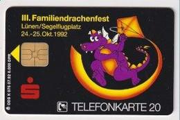 TK 30418 GERMANY - Chip K076 07.92  6.000 DPR Famileindrachenfest & Sparkasse MINT! - K-Series : Serie Clientes
