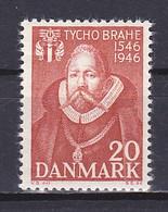 Denmark, 1946, Tycho Brahe, 20ø, MH - Nuovi