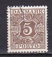 Denmark, 1922, Numeral & Posthorns, 5ø, USED - Port Dû (Taxe)