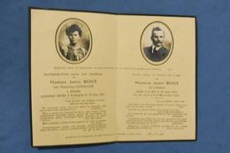 GENEALOGIE FAIRE PART DECES ROUX GANDILLON ALLANCHE SAINT QUENTIN 1921 1933 - Avvisi Di Necrologio