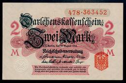 Pick 53 Ro 52b DEU-59b   2 Mark 1914 UNC ! - Andere