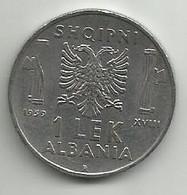 Albania 1  Lek 1939. Magnetic - Albanien