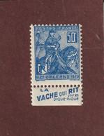 257 De 1929 - Neuf ** Avec PUB : LA VACHE QUI RIT . Pour Les Pique Nique  - Issu D'un Carnet Jeanne D'ARC - 2 Scannes - Ongebruikt